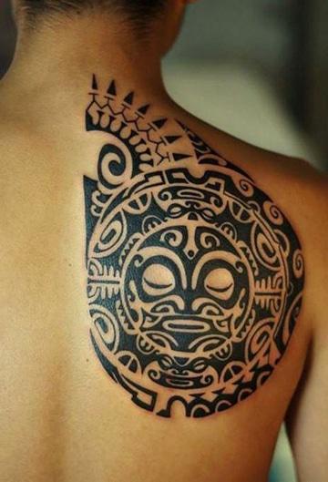 tatuajes tribales mayas espalda