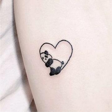 imagenes de pandas de amor para tatuaje