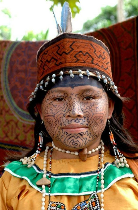 pintura corporal indigena para cara