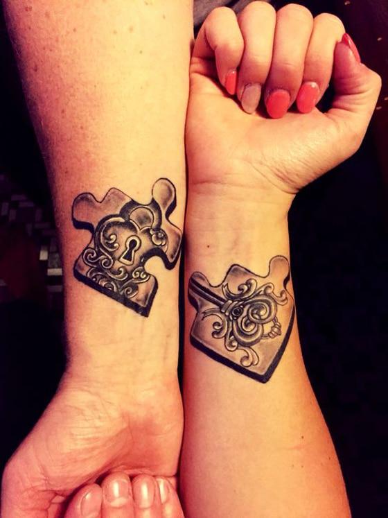 tattoos para parejas enamoradas rompecabeza