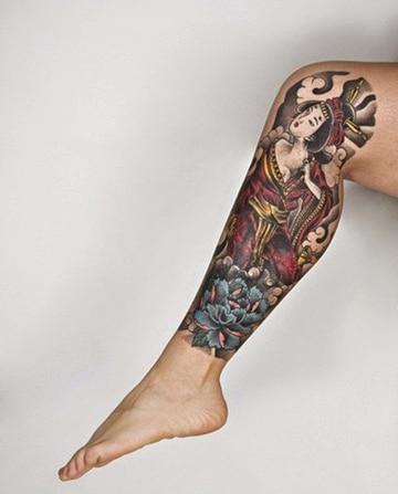 tatuajes chinos para mujeres de geisha