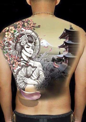 tatuajes de casas chinas grandes