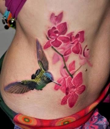 tatuajes de colibries en 3d volando