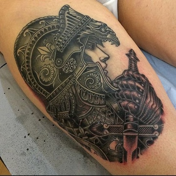 tatuajes de guerreros espartanos y mitologicos