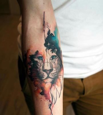 tatuajes en acuarela para hombres de animales