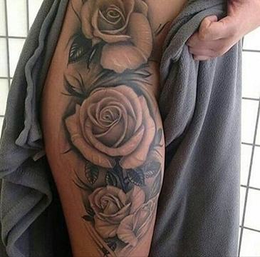 dibujos de rosas para tatuaje en pierna