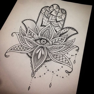 diseña tu propio tatuaje hamsa