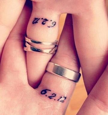 diseños de numeros para tatuajes fecha especial