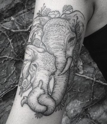 imagenes de tatuajes de elefantes tiernos