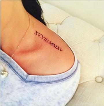 letras romanas para tatuajes en hombros