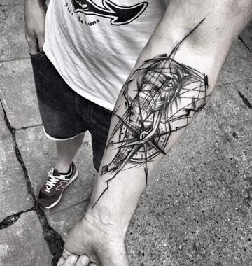 tatuajes de elefantes para hombres geometrico