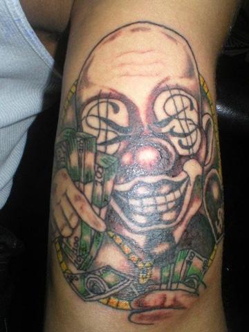 tatuajes de payasos diabolicos para hombres