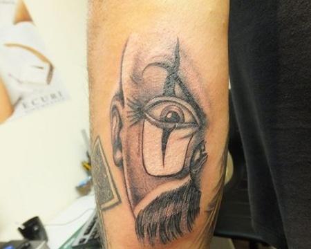 tatuajes de payasos diabolicos silueta cara