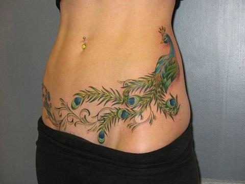 tatuajes en el vientre mujeres pintorescos