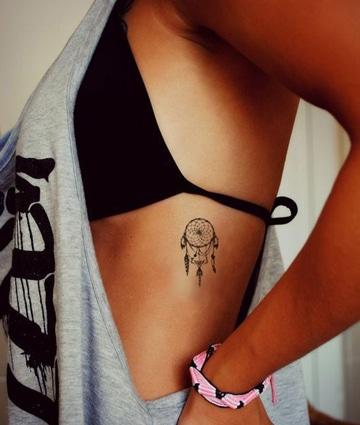tatuajes atrapasueños indios pequeños