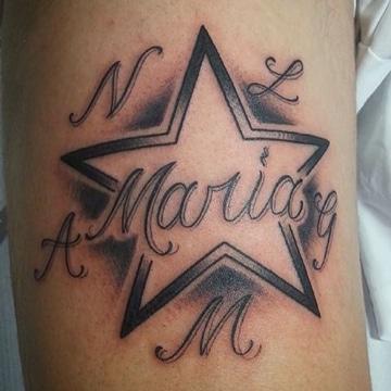tatuajes con el nombre maria en negro