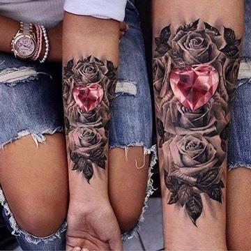 tatuajes de diamantes en 3d super lindos