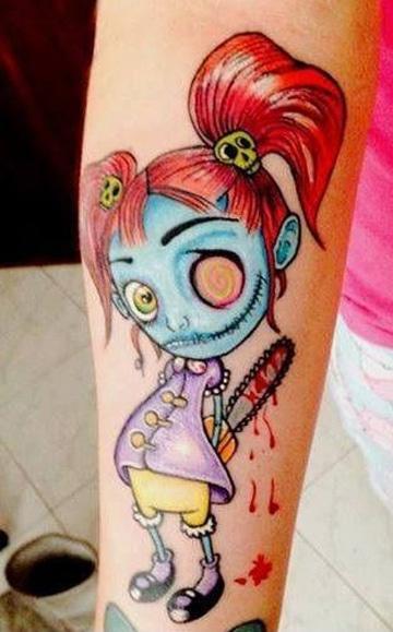 tatuajes de muñecas de trapo asesina
