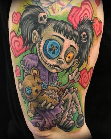 tatuajes de muñecas de trapo de espanto