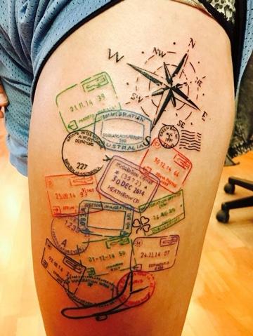 tatuajes de piernas para hombres viajeros