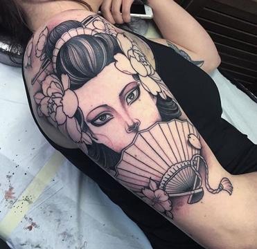 tatuajes japoneses en el brazo para mujer