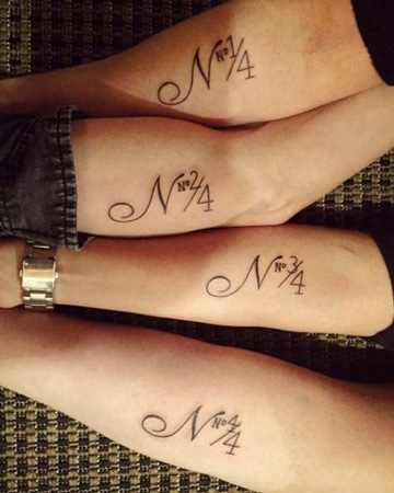 tatuajes para 4 hermanos letras