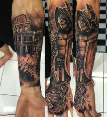 tatuajes romanos para hombres de personajes