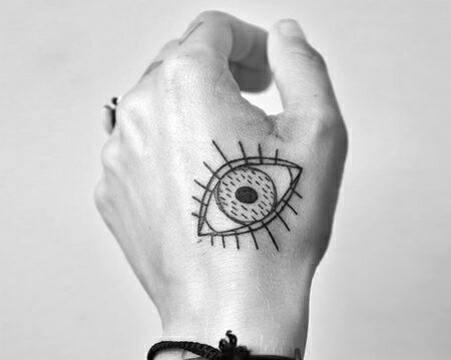 tatuajes de ojos en la mano ideas