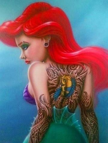 princesas de disney tatuadas sexy