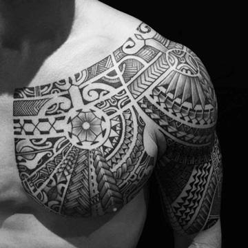 significado de los tatuajes tribales en pecho