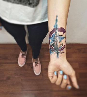 tatuajes de barcos piratas acuarela