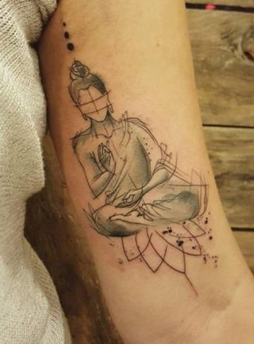 tatuajes de budas en el brazo boceto