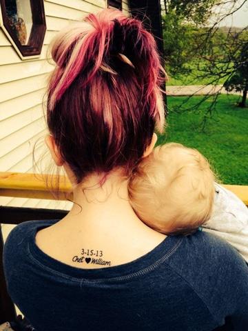 tatuajes de frases para madres con fecha
