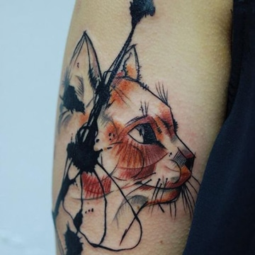 tatuajes de gatos para hombres ideas geniales