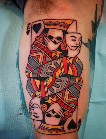 tatuajes de juegos de azar a color