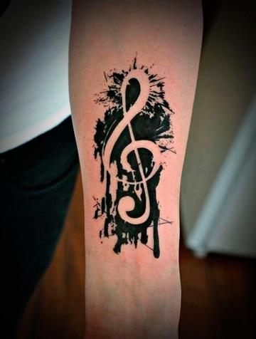 tatuajes de musica para mujeres clave sol