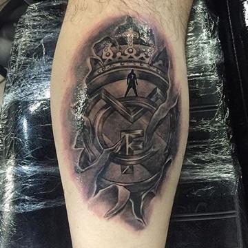 tatuajes del real madrid desgarrando