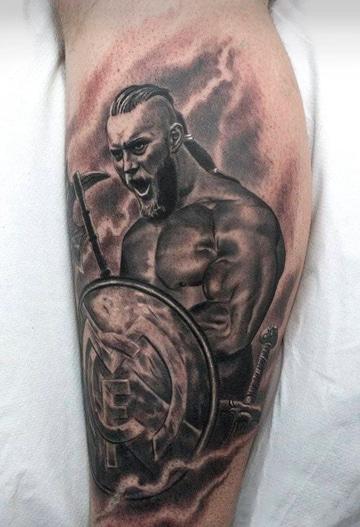 tatuajes del real madrid y guerreros