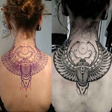 tatuajes egipcios para mujeres de escarabajo