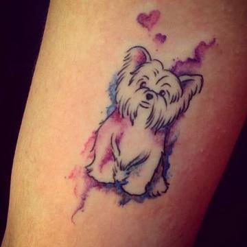 tatuajes para amantes de los perros tiernos