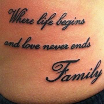 tatuajes para hacerse en familia con mensaje