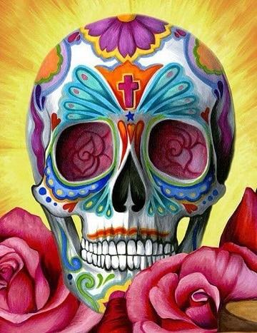 calaveras mexicanas con flores imagen