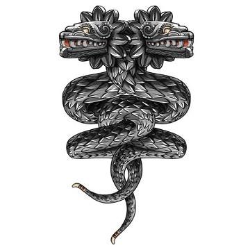 dibujos de quetzalcoatl para tatuar doble