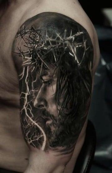 imagenes de tatuajes de cristo de perfil