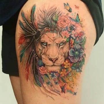 simbolicos e increibles tatuajes de cara de leon catalogo de tatuajes para hombres. Black Bedroom Furniture Sets. Home Design Ideas