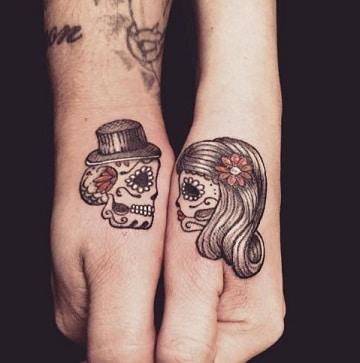 tatuajes de catrinas en la mano diseños