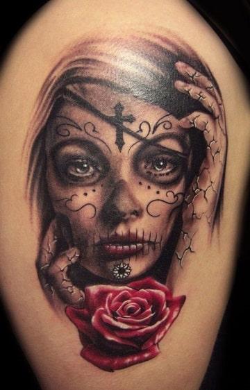 tatuajes de catrinas para mujer diseños