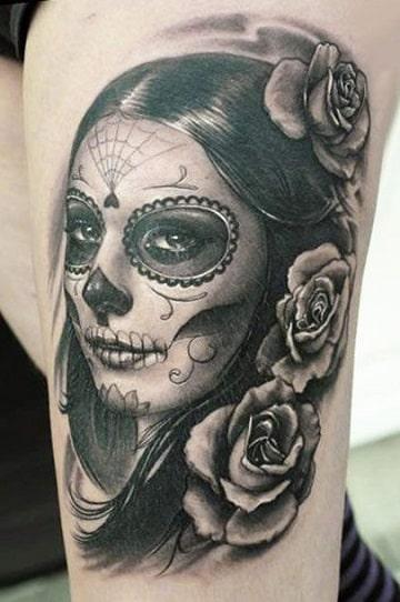 tatuajes de catrinas para mujer originales