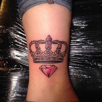 simbolicos dise os en tatuajes de diamantes con coronas. Black Bedroom Furniture Sets. Home Design Ideas