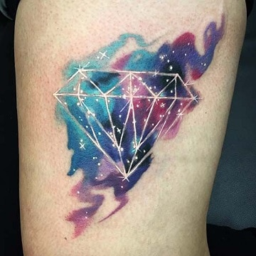 tatuajes de diamantes de colores para hombres